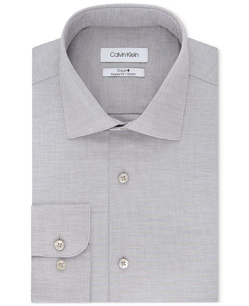 Calvin Klein Calvin Klein Men's STEEL Classic/Regular Fit Non-Iron Performance Stretch Fineline Dress Shirt