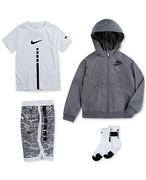 d77b49b60c70 Nike Little Boys Hooded Windrunner Jacket