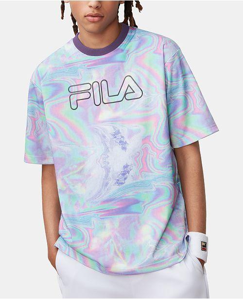 52303f541729 Fila Men s Iridescent Rowan Logo T-Shirt   Reviews - T-Shirts - Men ...