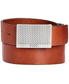 Men's Joel Leather Plaque Belt