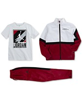 17ef3b7e49e Jordan Little Boys Diamond Track Jacket, Graphic-Print T-Shirt & Diamond  Pants