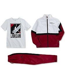 Jordan Toddler Boys Diamond Track Jacket, Graphic-Print T-Shirt & Diamond Pants