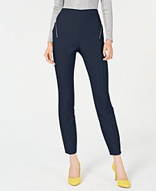 I.N.C. Zip-Pocket Skinny Pants, Created for Macy's