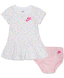 Nike Baby Girls Dot-Print Cotton Dress