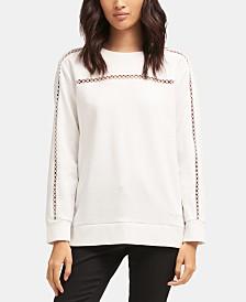 DKNY Crewneck Cutout-Detail Sweatshirt