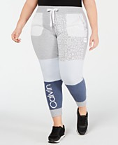 0d00f7ccac2871 Calvin Klein Performance Plus Size Colorblocked Logo Joggers