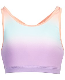 Ideology Big Girls Ombré-Print Sports Bra, Created for Macy's