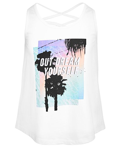 Ideology Big Girls Dream-Print Tank Top, Created for Macy's
