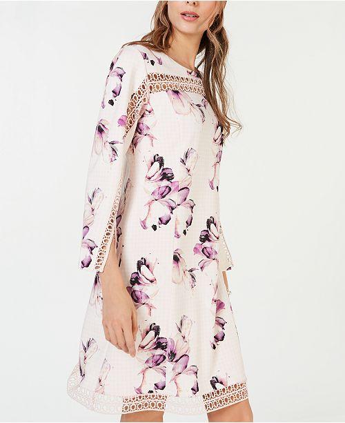6e7a338679a9e ... Alfani Petite Illusion-Lace Shift Dress, Created for Macy's ...