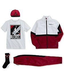 Jordan Big Boys 23 Cap, Diamond Track Jacket, Graphic-Print T-Shirt, Diamond Pants & Crew Socks