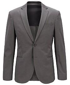 BOSS Men's Slim Fit Micro-Patterned Jacket