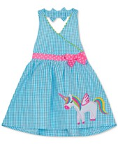 2ecebc28b5ff Rare Editions Baby Girls Unicorn Gingham Seersucker Dress