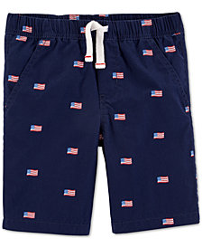 Carter's Little Boys Red, White & Blue Cotton Shorts