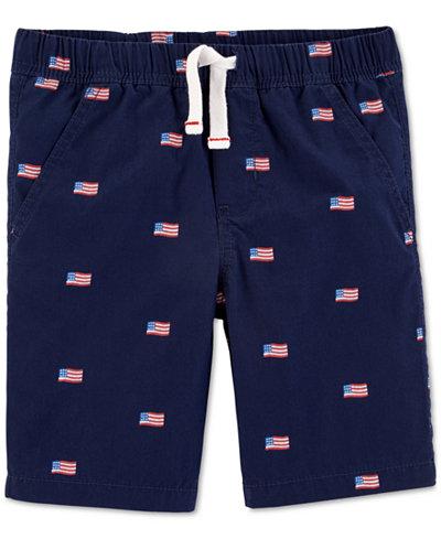 Carter's Little Boys Red, White & Blue Cotton Shorts