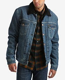 Wrangler Men's Sherpa Lined Denim Trucker Jacket
