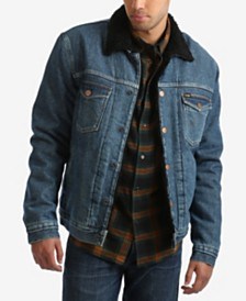 Wrangler Men's Sherpa Lined Denim Trucker Jacket
