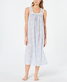 Lace Straps Woven Cotton Nightgown, Created for Macy's