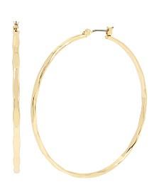 BCBGeneration Large Textured Hoop Earrings
