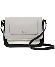 Tula England Colorblocked Flapover Leather Crossbody