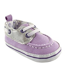 Luvable Friends Slip-on Shoes, Lilac and Gray, 0-18 Months
