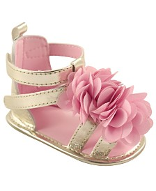 Luvable Friends Gladiator Sandals, Pink Flower, 0-18 Months