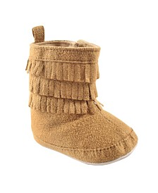 Luvable Friends Fringe Booties, Tan, 0-18 Months