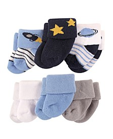 Newborn Socks, 6-Pack, Outer Space, 0-3 Months