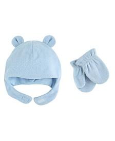 Luvable Friends Fleece Bear Hat and Mitten Set, 2-Piece Set, 0 Months-4T
