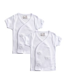 Baby Boys and Girls Short-Sleeve Side Snap Shirts, Pack of 2