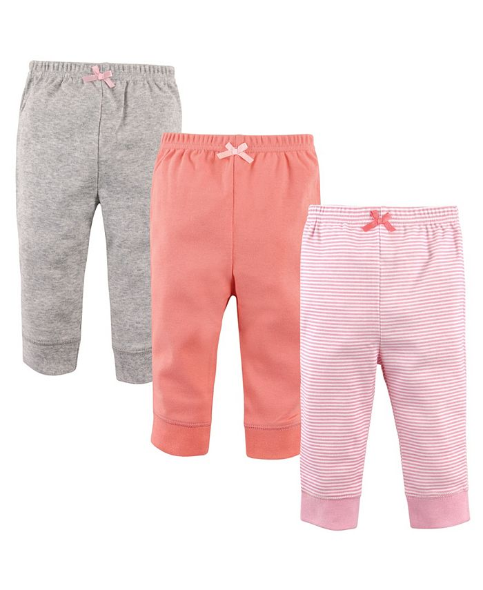 Luvable Friends - Toddler Boys and Girls Cotton Stripe Pants Set