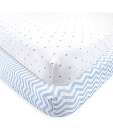 Fitted Knit Crib Sheet, 2-Pack