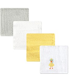 Luvable Friends Washcloths, 4-Pack, One Size
