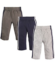 Hudson Baby Baby Athletic Pants, 3-Pack, 2T-5T