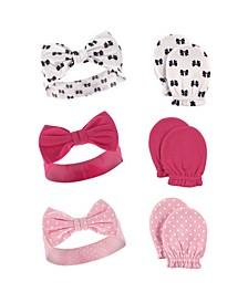 Headbands and Scratch Mittens, 6-Piece Set, 0-6 Months