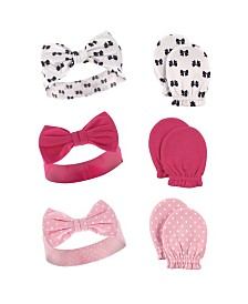 Hudson Baby Headbands and Scratch Mittens, 6-Piece Set, 0-6 Months