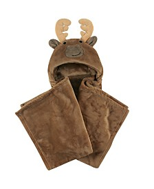 Hudson Baby Hooded Plush Blanket, One Size