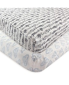 Fitted Crib Sheets, 2-Pack, One Size