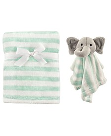 Hudson Baby Plush Blanket and Security Blanket Set, One Size