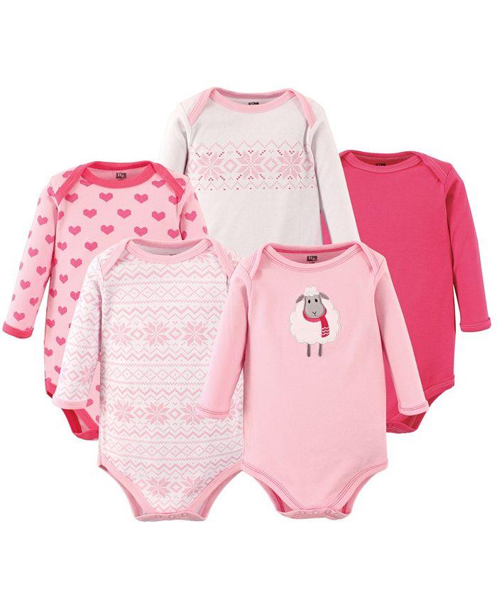 Hudson Baby - - Baby Boys and Girls Cotton Long-Sleeve Bodysuit Set