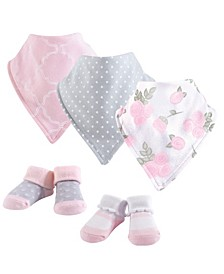Bandana Bibs and Socks, 5-Piece Set, 0-9 Months