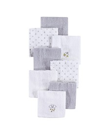 Hudson Baby Woven Terry Washcloths, 8-Pack, One Size
