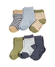 Touched By Nature Organic Cotton Socks, 6-Pack, 0-24 Months