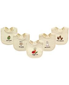 Organic Bibs, 5-Pack, One Size