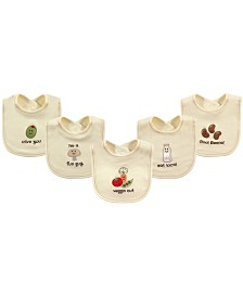 Touched By Nature Organic Bibs, 5-Pack, One Size