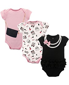 Little Treasure Bodysuits, 3-Pack, 0-24 Months