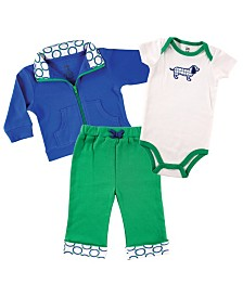 Yoga Sprout Track Jacket, Bodysuits and Pants, 3-Piece Set, 0-24 Months