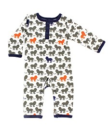 Yoga Sprout Union Suit/Coverall, Lion Collection, 0-9 Months