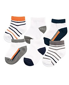 No-Show Ankle Socks, 6-Pack, 0-24 Months