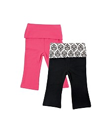 Yoga Sprout Yoga Pants, 2-Pack, 0-24 Months