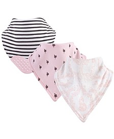 Bandana Bibs with Teether, 3-Pack, One Size